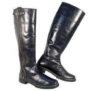 KORS Michael Kors Breck $450 Tall Lug Sole Boots